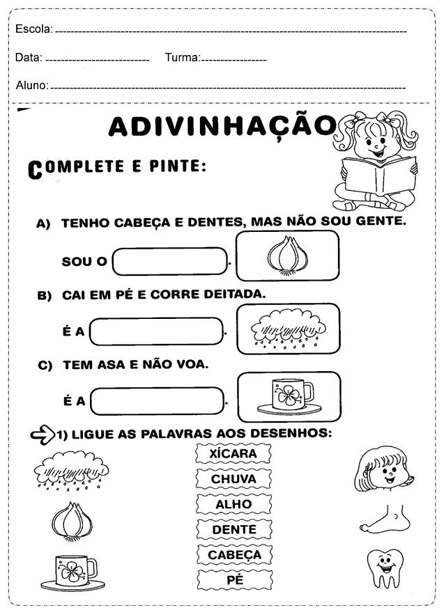 Educadora Lina Atividades De Portugues 1 Ano Imprimir