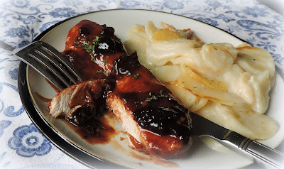 Black Cherry Sauced Turkey Steaks