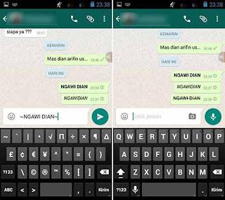 Cara Menulis Huruf Tercoret di WhatsApp