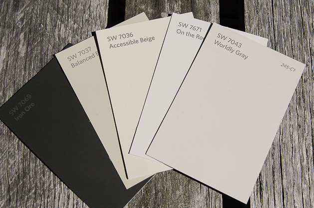 Neutral paint samples