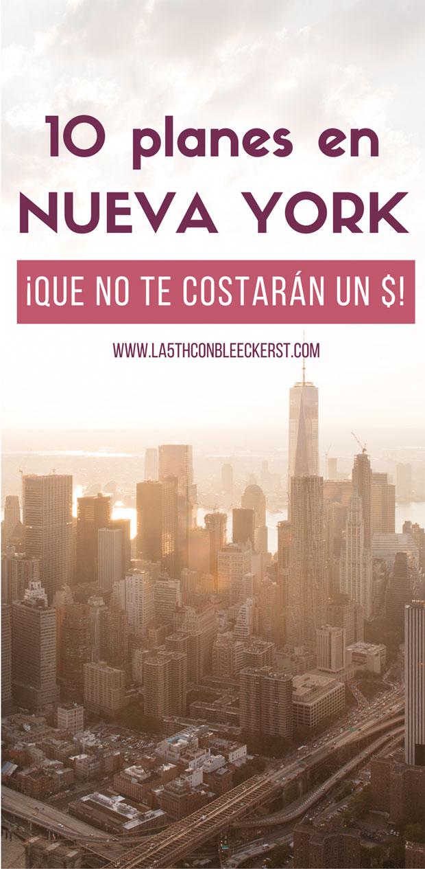 10 planes en Nueva York por solo 1$