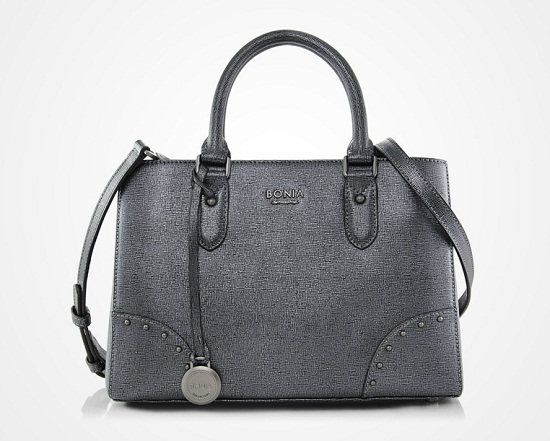 Bonia Metallic Pigeon Handbag