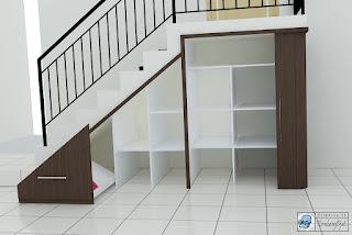 Semarang Furniture - Pesan Furniture Lemari Bawah Tangga Bahan Multiplek HPL Semarang Furniture - Pesan Furniture Lemari Bawah Tangga Bahan Multiplek HPL