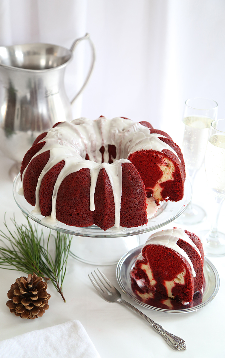 Red Velvet Cream Cheese Swirl Bundt Cake Sprinkle Bakes
