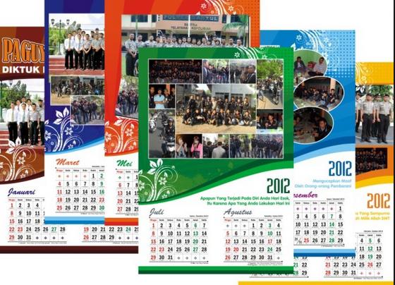 Contoh Desain Kalender Sekolah Yang Unik dan Menarik ...