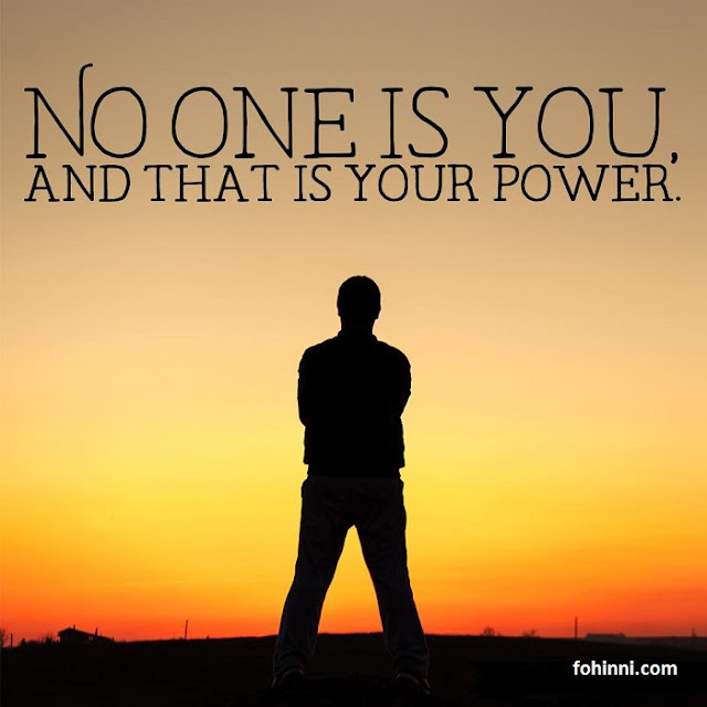 Now One Is You, And That Is Your Power.