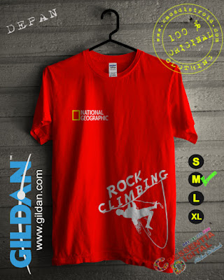 Baju Kaos National Geographic Rock Climbing Warna Orange