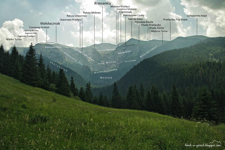Panorama przysłop miętusi