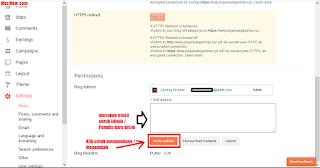 tambah admin blog, ganti admin blog, merubah admin blog, menambah penulis blog