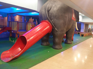 childrens slide elephants arse funny product fail