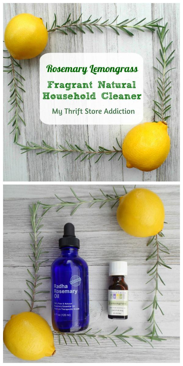 15 minute rosemary lemongrass natural household cleaner
