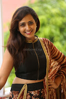 Lasya looks super cute in black choli Saree at Raja Meru Keka Press Meet ~  Exclusive 057.JPG