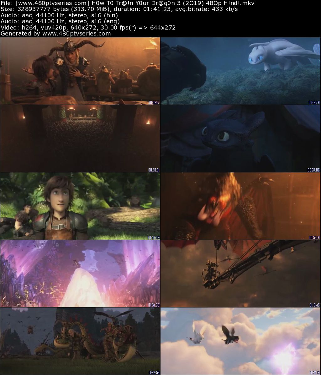 How to Train Your Dragon 3 The Hidden World (2019) 300MB Full Hindi Dual Audio Movie Download 480p HDRip Free Watch Online Full Movie Download Worldfree 9xmovies