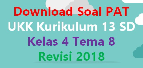 Download Soal PAT UKK Kurikulum 13 SD Kelas 4 Tema 8 Revisi 2018