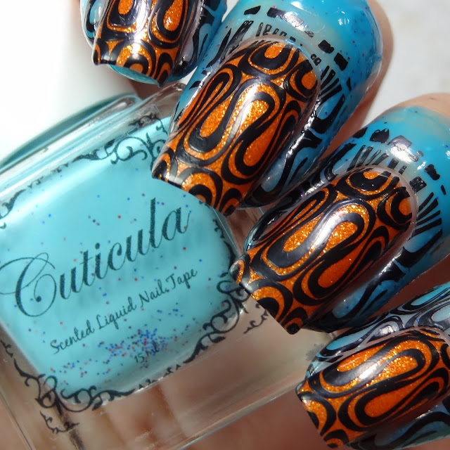 Cuticula Scented Liquid Nail Tape in the scent Rock Candy