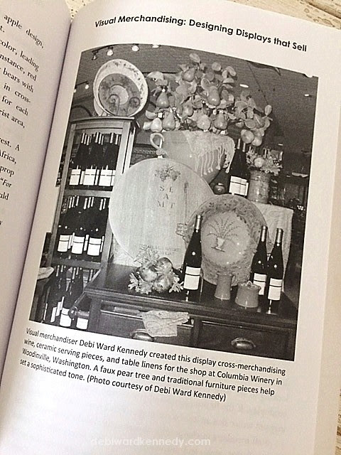 Visual Merchandising photo by Debi Ward Kennedy appears in the new Specialty Shop Retailing book by author Carol Schroeder published 2018