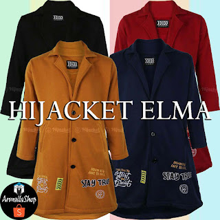 HIJACKET TERBARU ELMA NAVY MAROON BLACK MARIGOLD ORIGINAL JAKET HIJAB FORMAL DESIGN STYLISH