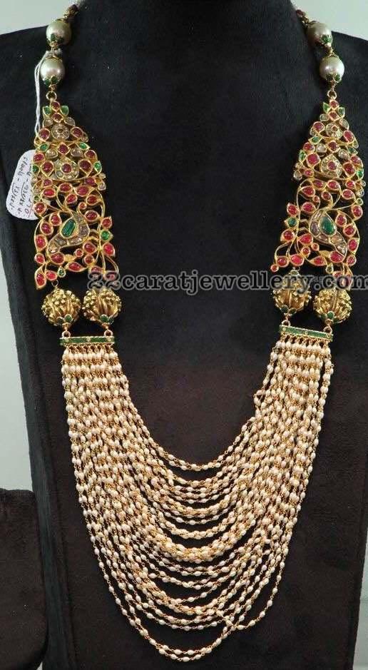 Basara Pearls Multi String Necklace Jewellery Designs