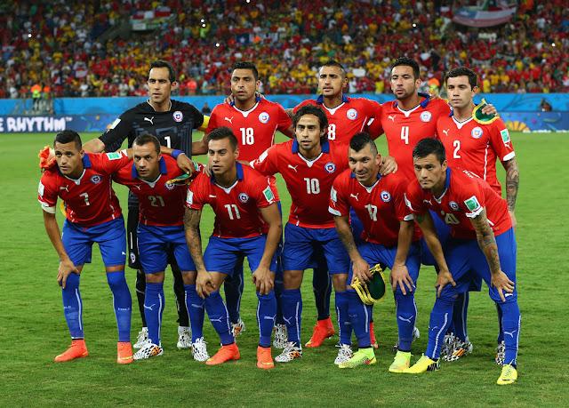 Formación de Chile ante Australia, Copa del Mundo Brasil 2014, 13 de junio