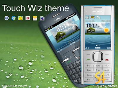 Touch Wiz theme c3 x2 asha 240x320 320x240 s406th