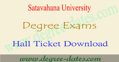 Satavahana University degree hall tickets 2017 download su ug 1st 2nd 3rd year exams