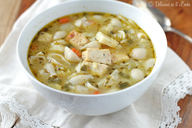 White Minestrone with Tofu {Low-FODMAP, Gluten-Free, Vegan}  /  Delicious as it Looks