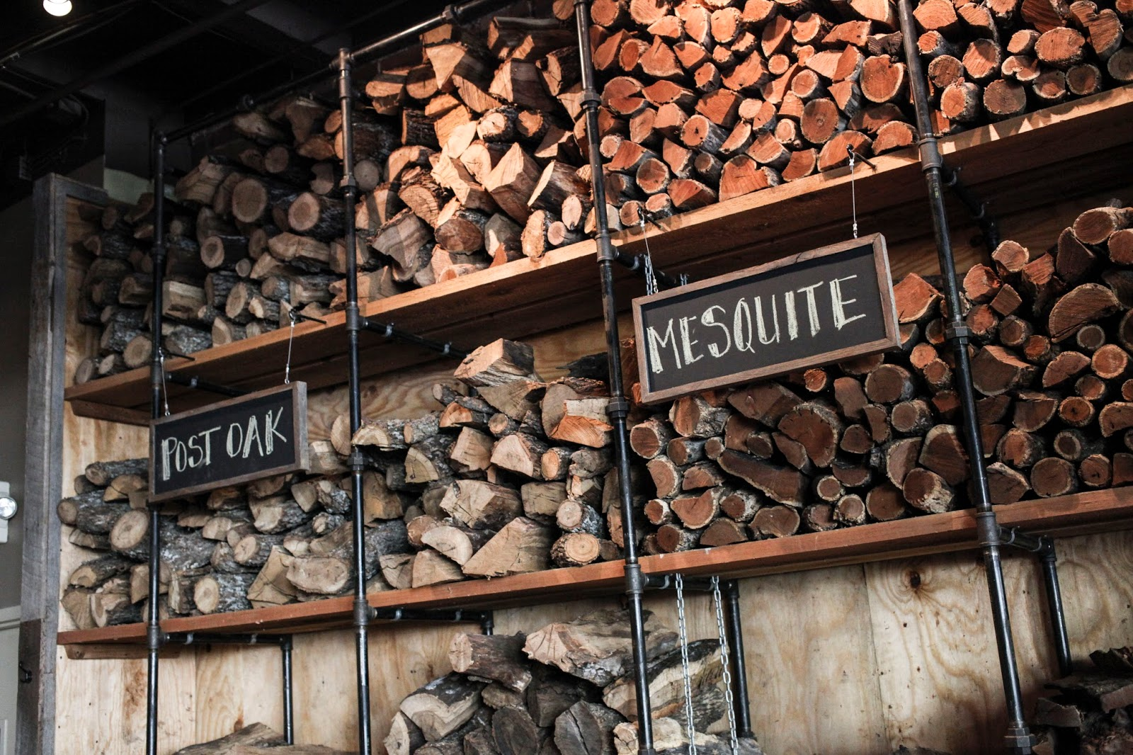 wood for smoking at Twin Smokers BBQ