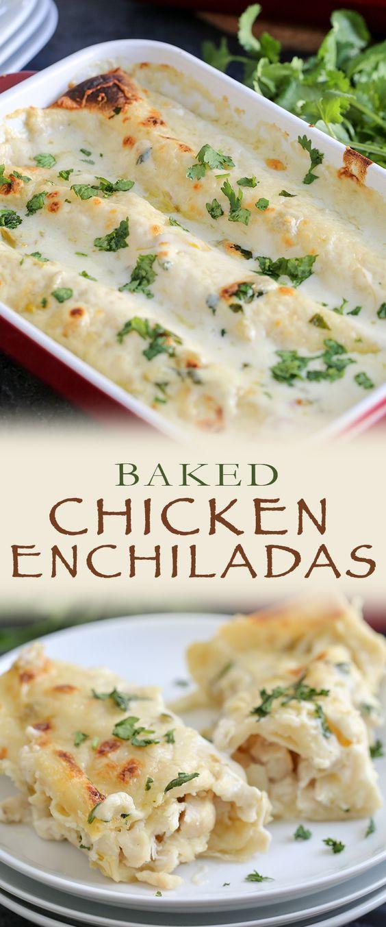 Baked Creamy Chicken Enchiladas Recipe