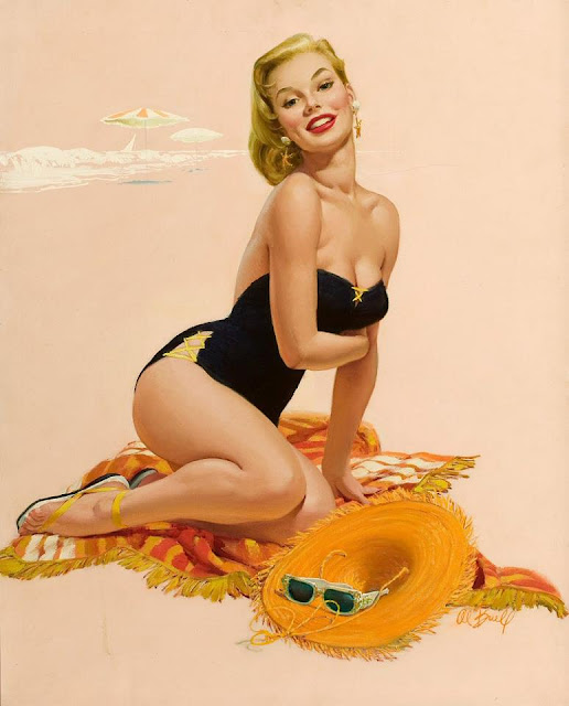 Vintage Paintings of Beautiful Woman's 21