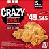 Buruan Nikmati Crazy Deal KFC Serba 40Rb
