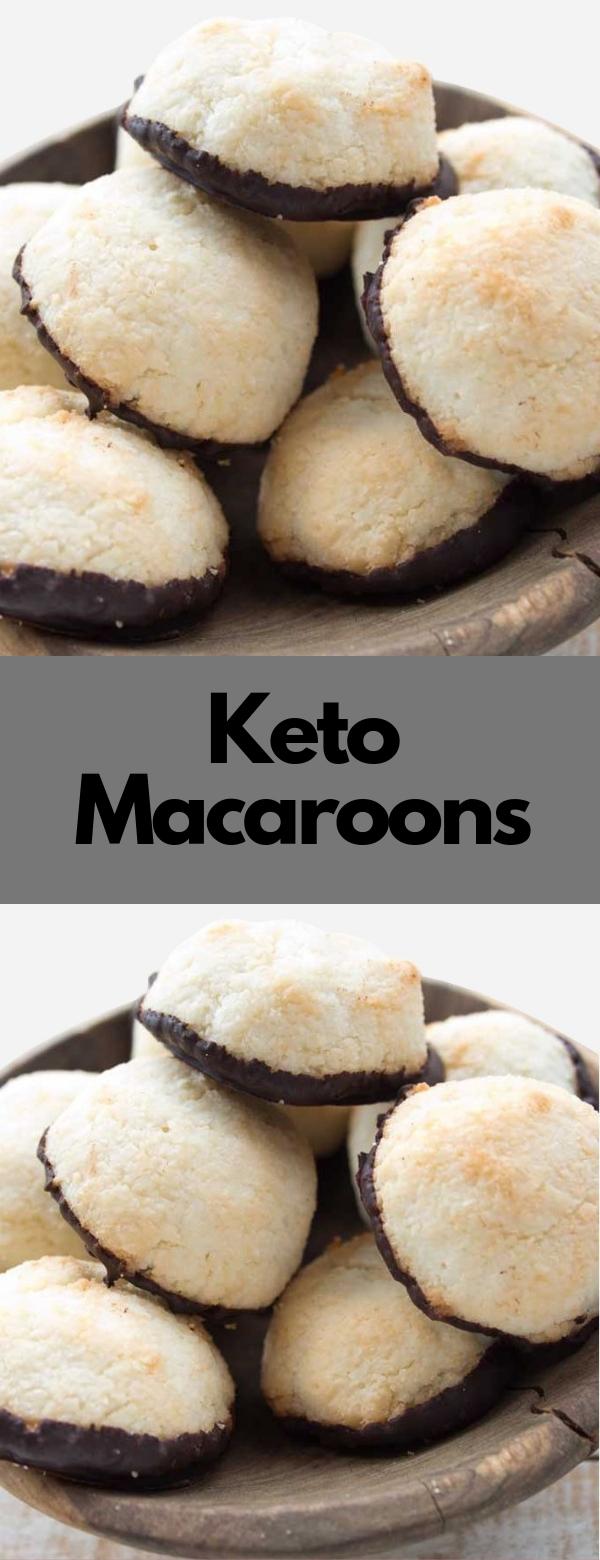Keto Macaroons #KETO #LOWCARB #SUGARFREE