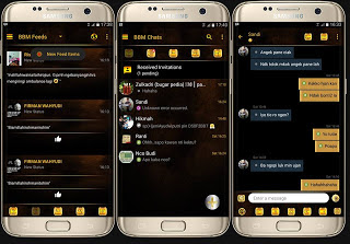 BBM Black Gold Simple V3.1.0.13 Apk Update Terbaru