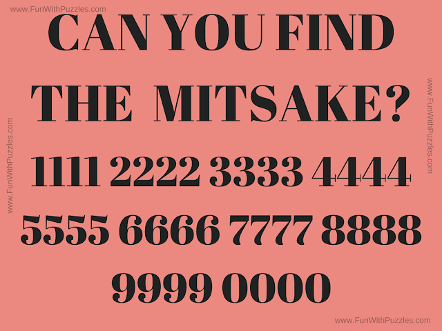 This is the quick observational skills test picture puzzle in which your challenge is to find the mistake in the given puzzle image.
