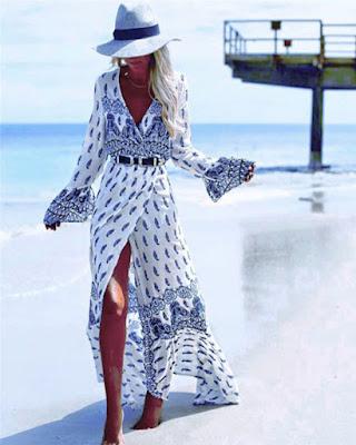 vestido para la playa casual largo