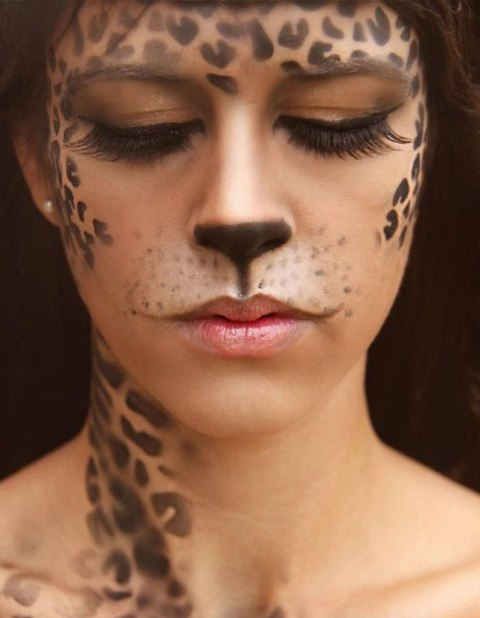 cheetah face painting ideas for adult women face paint ideas. Black Bedroom Furniture Sets. Home Design Ideas