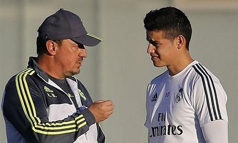 Với Benitez, Zidane, James có những ngày ác mộng ở Real Madrid