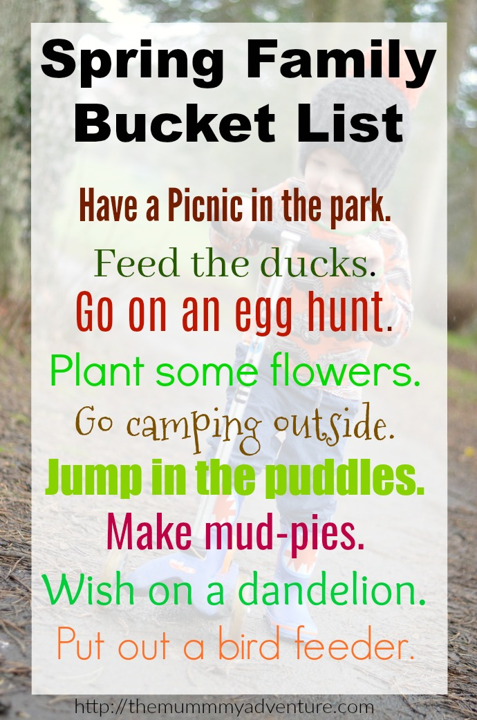 Spring family bucket list, themummyadventure.com