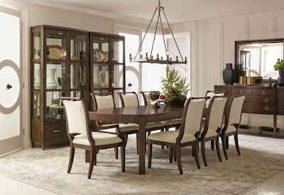 wooden dining table set from Baer's Furniture