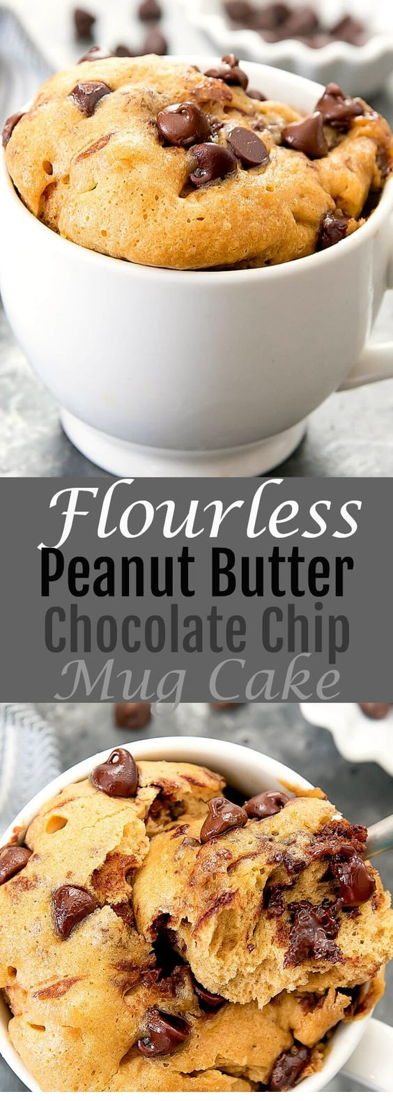 Flourless Peanut Butter Chocolate Chip Mug Cake