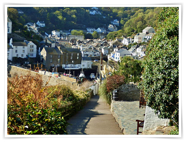 Path leading down to Polperro, Cornwall