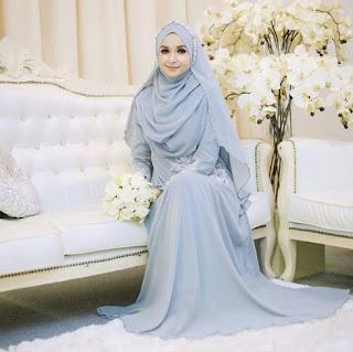 Busana poengantin muslim syar'i untuk pesta pernikahan