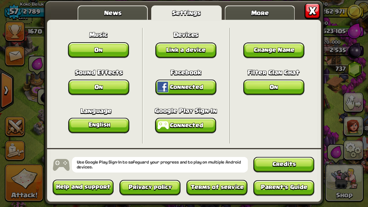 Cara pindah akun CoC [ Clash of Clans ] dari BlackBerry 10 ke Android