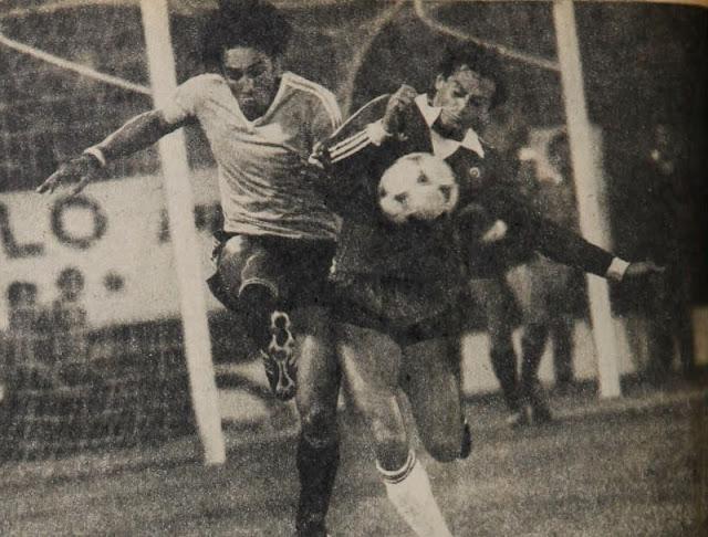 Chile y Uruguay en Copa Juan Pinto Durán 1981, partido de ida