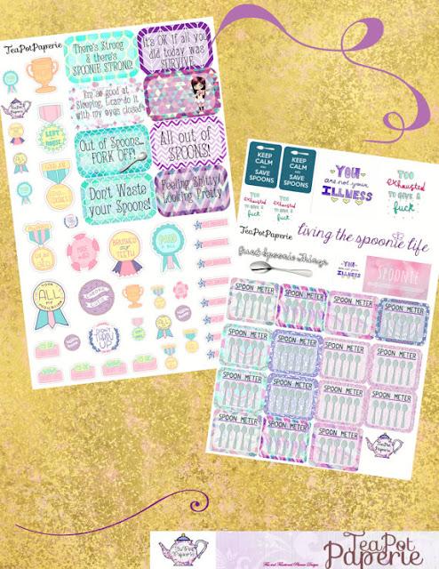 Spoonie planner stickers  - Spoonie Gift Guide