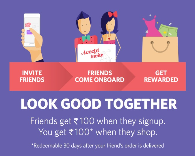 Myntra refer and win rewards