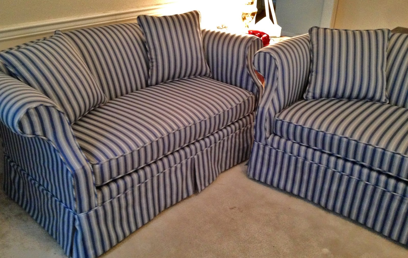 stripe sofa bargain sofas randburg pam morris sews striped traditional and loveseat