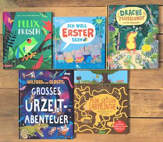 5 tolle Mitmachbücher - Diese Bilderbücher stelle ich dir auf dem Kinderbuchblog Familienbücherei näher vor.