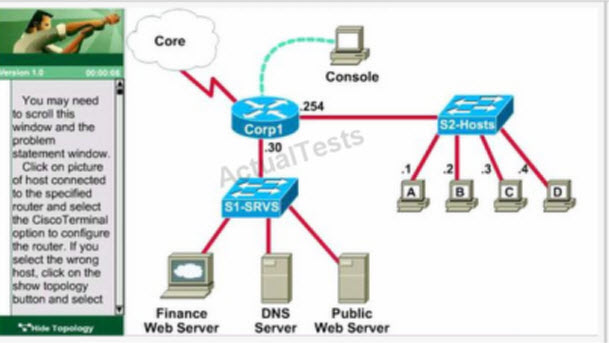 GNS3 Labs | CCNP | CCNA Labs: CCNA access list Exam Lab with
