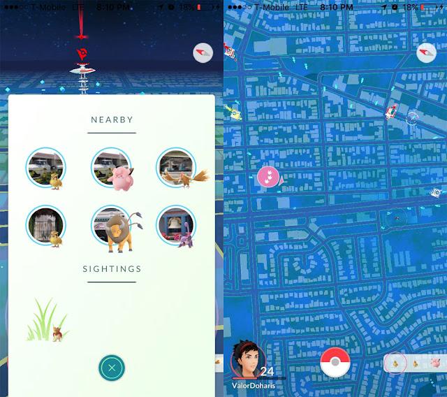 Pokemon Go uji coba tracker Nearby baru, segera hadir untuk semua pemain di seluruh dunia