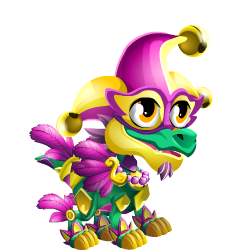 Appearance of Mardi Gras Dragon when baby
